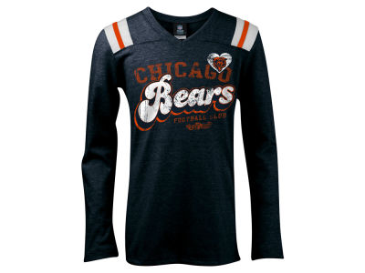 Chicago Bears 5th & Ocean NFL Youth Long Sleeve Triblend T-Shirt