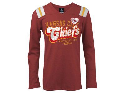 Kansas City Chiefs 5th & Ocean NFL Youth Long Sleeve Triblend T-Shirt