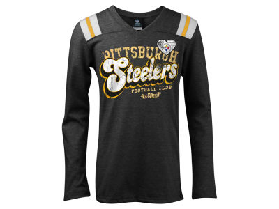Pittsburgh Steelers NFL Youth Long Sleeve Triblend T-Shirt