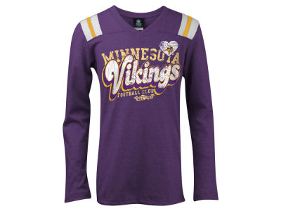 Minnesota Vikings 5th & Ocean NFL Youth Long Sleeve Triblend T-Shirt