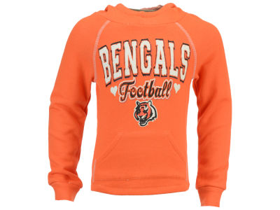 Cincinnati Bengals 5th & Ocean NFL Youth Raglan Hoodie