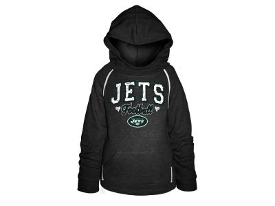 New York Jets 5th & Ocean NFL Youth Raglan Hoodie