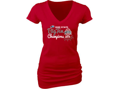 Ohio State Buckeyes Blue 84 NCAA Women's 2014 Big ten Champ T-Shirt