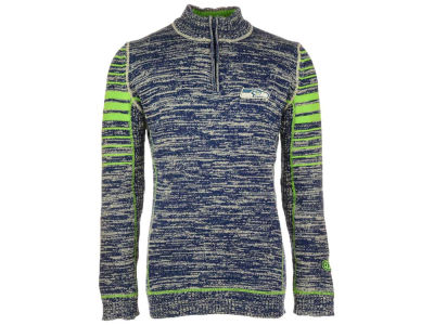 Seattle Seahawks NFL Men's Slant 1/4 Zip Pullover Sweater