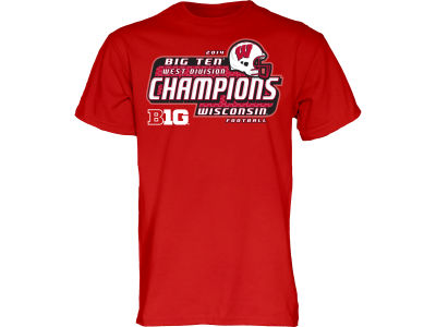 Wisconsin Badgers Blue 84 NCAA Men's 2014 Big 10 West Division Champ T-Shirt