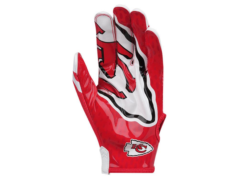 Kansas City Chiefs Nike Vapor Knit Gloves  b7e5b6925d03