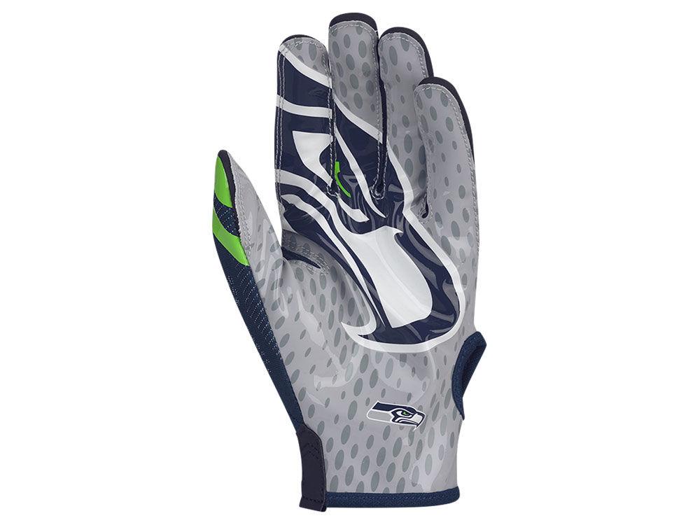 Seattle Seahawks Nike Vapor Knit Gloves  f6ea0435e6b6