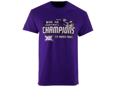 Texas Christian Horned Frogs Blue 84 NCAA Big 12 Champions T-Shirt