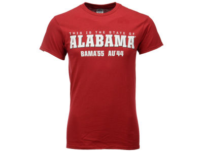 Alabama Crimson Tide NCAA Men's 2014 Iron Bowl Score T-Shirt