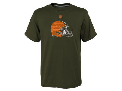 Cleveland Browns NFL Youth Power Grid Logo Dri Tek T-Shirt