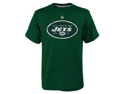 New York Jets NFL Youth Power Grid Logo Dri Tek T-Shirt
