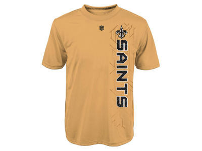 New Orleans Saints NFL Youth Vertical Grid Dri Tek T-Shirt
