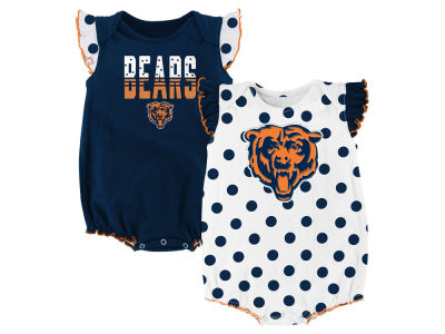 Chicago Bears Outerstuff NFL Newborn Polka Fan 2 Piece Creeper Set