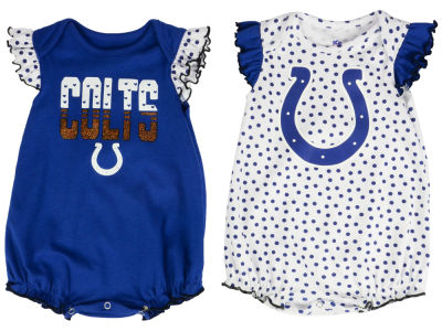 Indianapolis Colts Outerstuff NFL Newborn Polka Fan 2 Piece Creeper Set