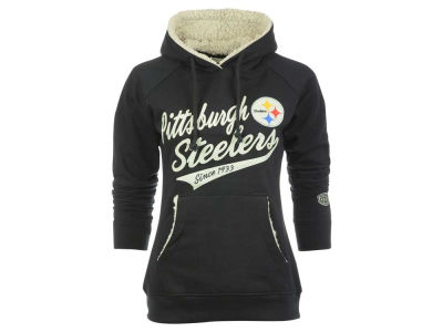 Pittsburgh Steelers Old Time Hockey NFL Women's Flair Hoodie