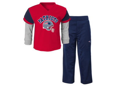 New England Patriots NFL Toddler Charger Pant Set