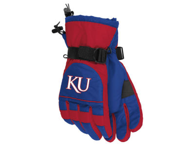 Kansas Jayhawks adidas Nylon Gloves