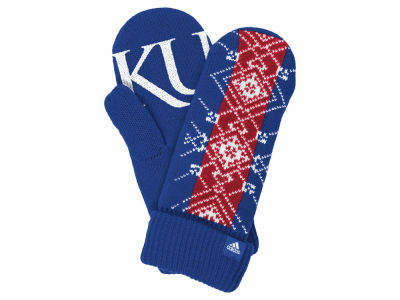 Kansas Jayhawks adidas Fan Gear Knit Mitten