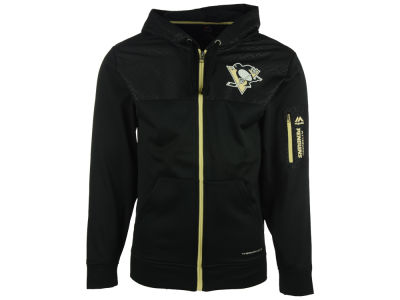 Pittsburgh Penguins Majestic NHL Men's Ready For Action Full-Zip Hoodie