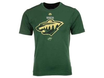 Minnesota Wild Majestic NHL Men's Solid Win Synthetic T-Shirt