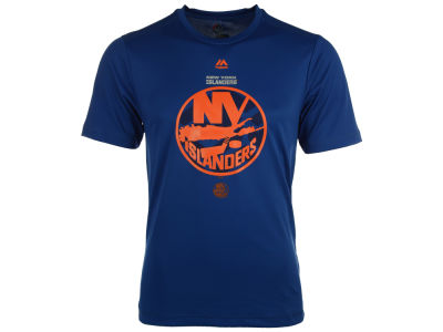 New York Islanders Majestic NHL Men's Solid Win Synthetic T-Shirt
