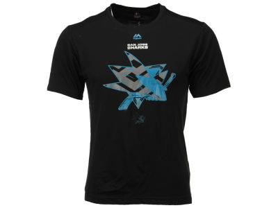 San Jose Sharks Majestic NHL Men's Solid Win Synthetic T-Shirt