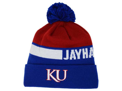 Kansas Jayhawks adidas NCAA Player Cuffed Pom Knit