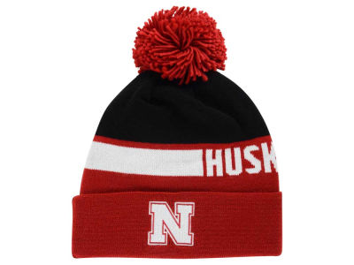 Nebraska Cornhuskers adidas NCAA Player Cuffed Pom Knit