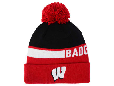 Wisconsin Badgers adidas NCAA Player Cuffed Pom Knit