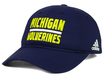 Michigan Wolverines adidas NCAA Travel Adjustable Slouch Cap