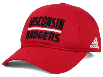 Wisconsin Badgers adidas NCAA Travel Adjustable Slouch Cap