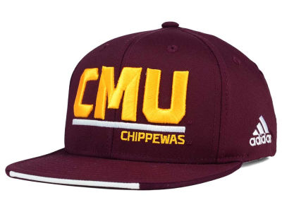 Central Michigan Chippewas adidas NCAA Travel Flat Brim Snapback Cap