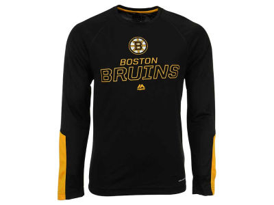 Boston Bruins Majestic NHL Men's Cutting Through Long Sleeve T-Shirt