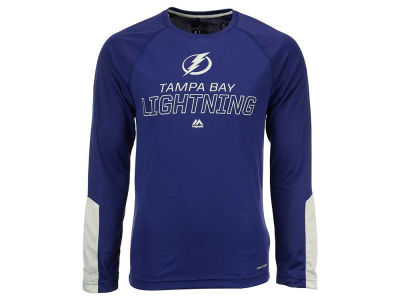 Tampa Bay Lightning Majestic NHL Men's Cutting Through Long Sleeve T-Shirt