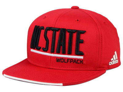 North Carolina State Wolfpack adidas NCAA Travel Flat Brim Snapback Cap