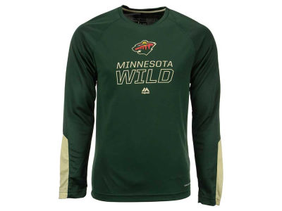 Minnesota Wild Majestic NHL Men's Cutting Through Long Sleeve T-Shirt