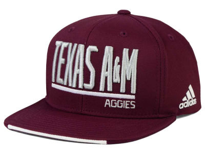 Texas A&M Aggies adidas NCAA Travel Flat Brim Snapback Cap