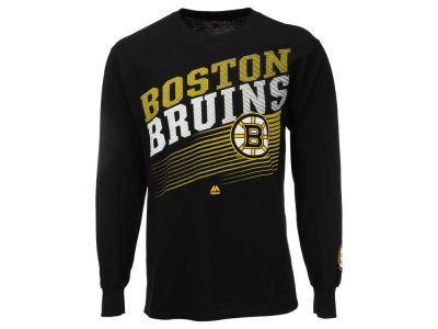 Boston Bruins Majestic NHL Men's Building Strategy Long Sleeve T-Shirt