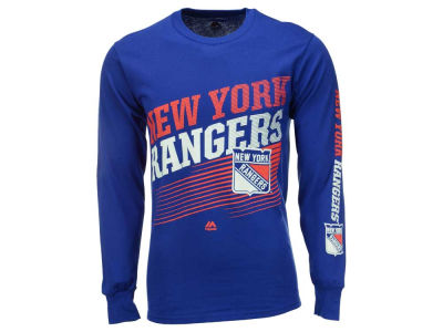 New York Rangers Majestic NHL Men's Building Strategy Long Sleeve T-Shirt