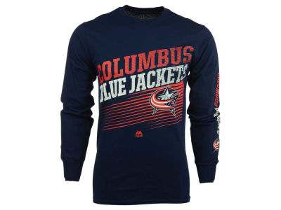 Columbus Blue Jackets Majestic NHL Men's Building Strategy Long Sleeve T-Shirt