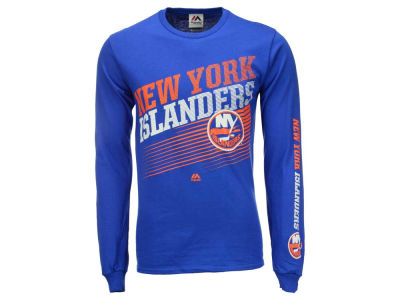 New York Islanders Majestic NHL Men's Building Strategy Long Sleeve T-Shirt