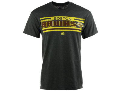 Boston Bruins Majestic NHL Men's Vintage All Hustle Logo History T-Shirt