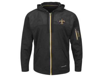 New Orleans Saints Majestic NFL Men's Ready For Action Full Zip Hoodie