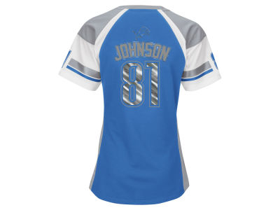 Detroit Lions Calvin Johnson NFL Women's Draft Him T-Shirt