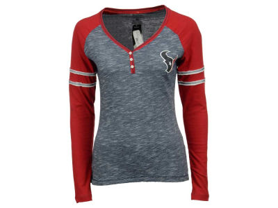 Houston Texans Majestic NFL Women's Lead Play Long Sleeve T-Shirt