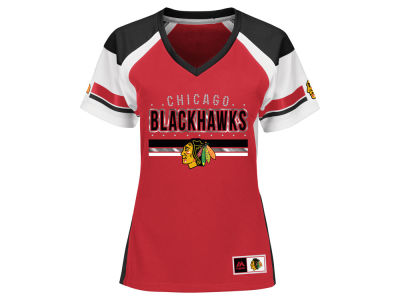 Chicago Blackhawks Majestic NHL Women's Ready to Win Shimmer Jersey