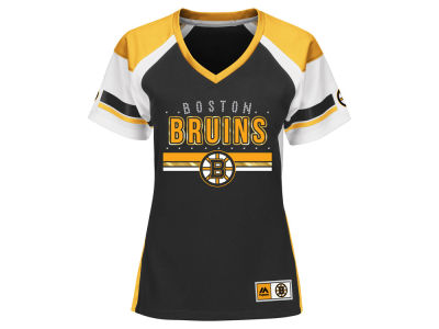 Boston Bruins Majestic NHL Women's Ready to Win Shimmer Jersey