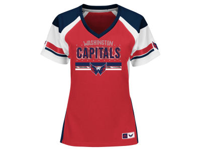 Washington Capitals Majestic NHL Women's Ready to Win Shimmer Jersey