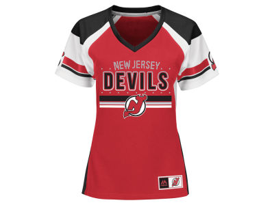 New Jersey Devils Majestic NHL Women's Ready to Win Shimmer Jersey