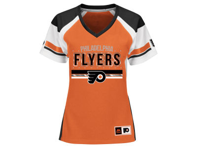 Philadelphia Flyers Majestic NHL Women's Ready to Win Shimmer Jersey